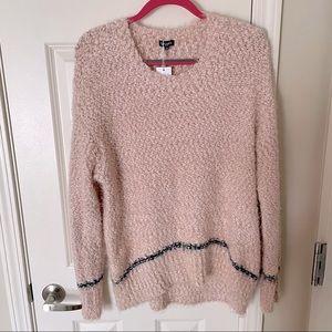 NWT Splendid Pink with Black Trim Oversize Sweater